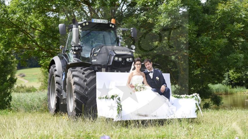Heidi und Johannes Dittrich aus Eschlipp haben am 23.6.2018 in Hetzelsdorf geheiratet, ihr