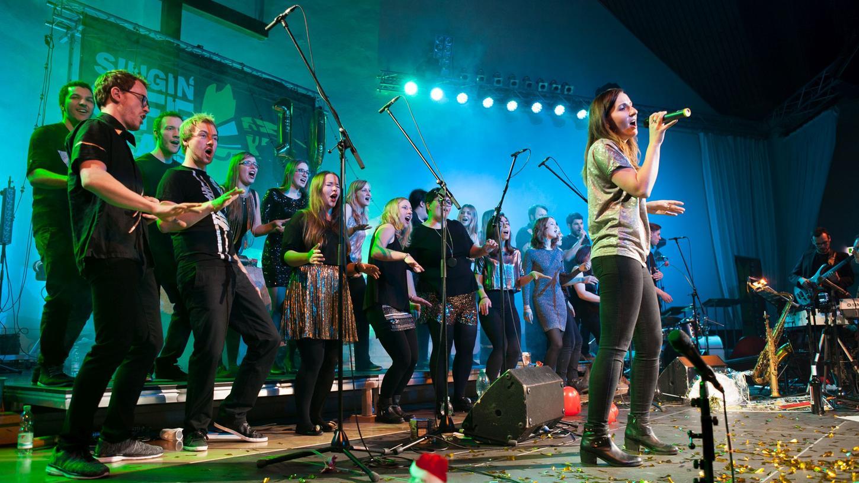 Alles in Bewegung: Die Singin' Off Beats aus Nürnberg treten in Wendelstein auf.