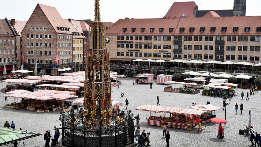 Nürnberg gilt als eine der brunnenreichsten Städte Deutschlands. Der berühmteste Brunnen der ganzen Stadt ist der