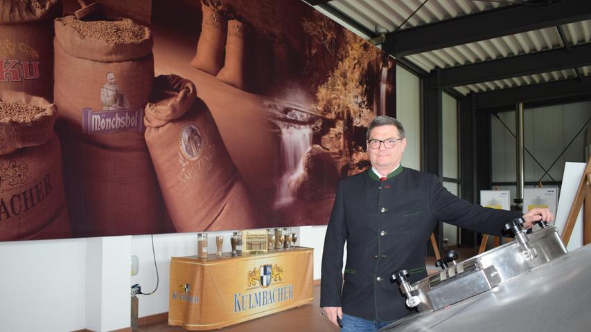 Der Kulmbacher Braumeister Hermann Nothhaft im Brauereigebäude.