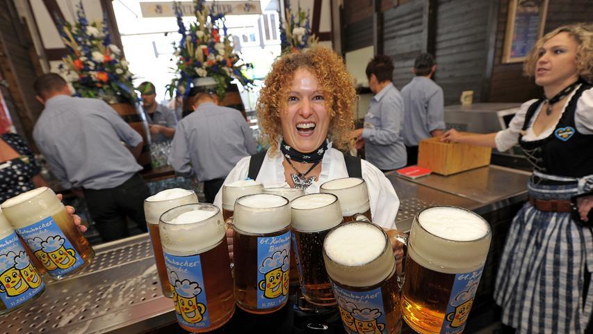 Auf der Kulmbacher Bierwoche geht es jedes Jahr heiß her.