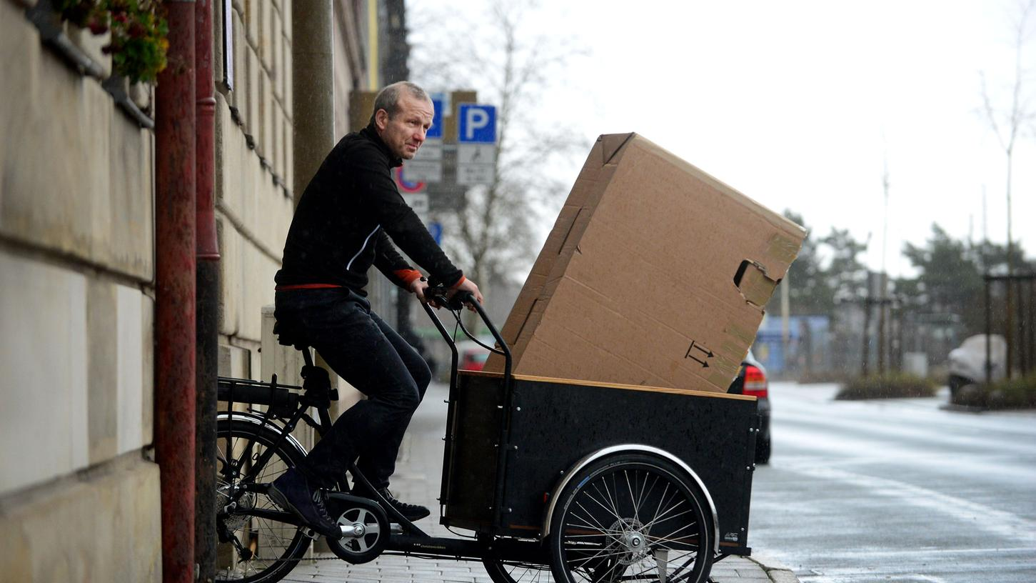 Zuschüsse bei der Anschaffung von Lastenrädern gewährt die Stadt Fürth ab Ende April.