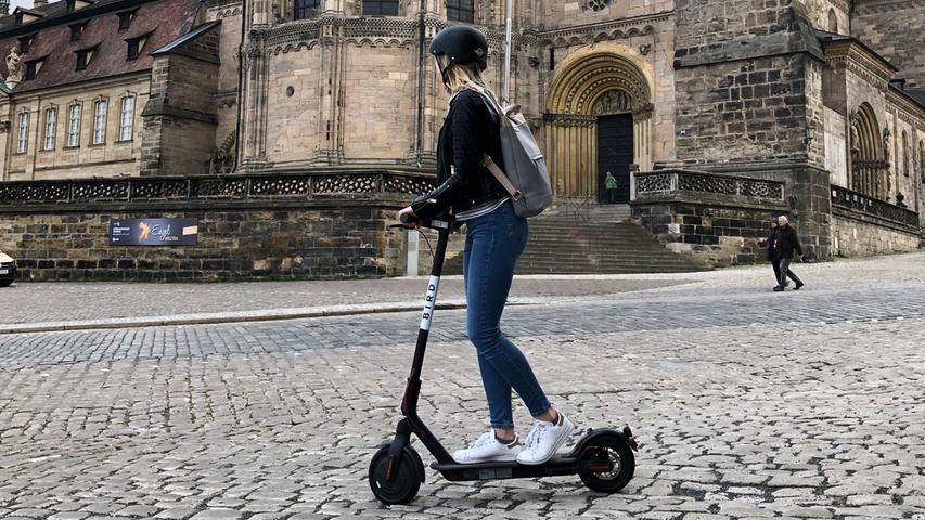 Tretroller im Test: Mit dem E-Scooter durch Bamberg