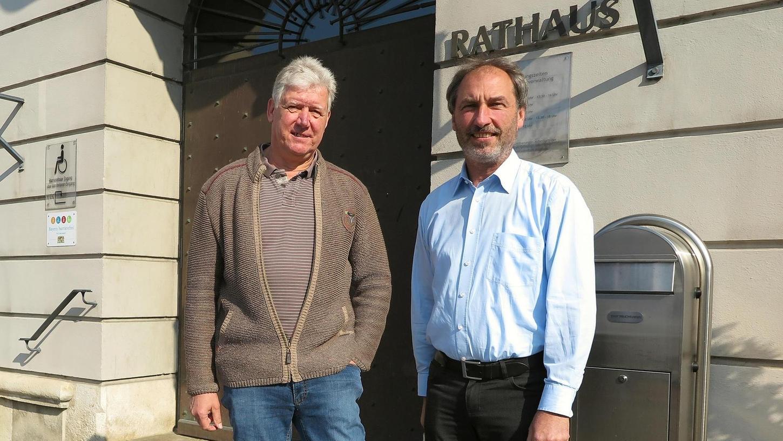 Hubert Stanka (links) soll für die UFW in den Treuchtlinger Stadtrat einziehen – und das längst nicht allein, wenn es nach Fraktionschef Klaus Fackler (rechts) geht.