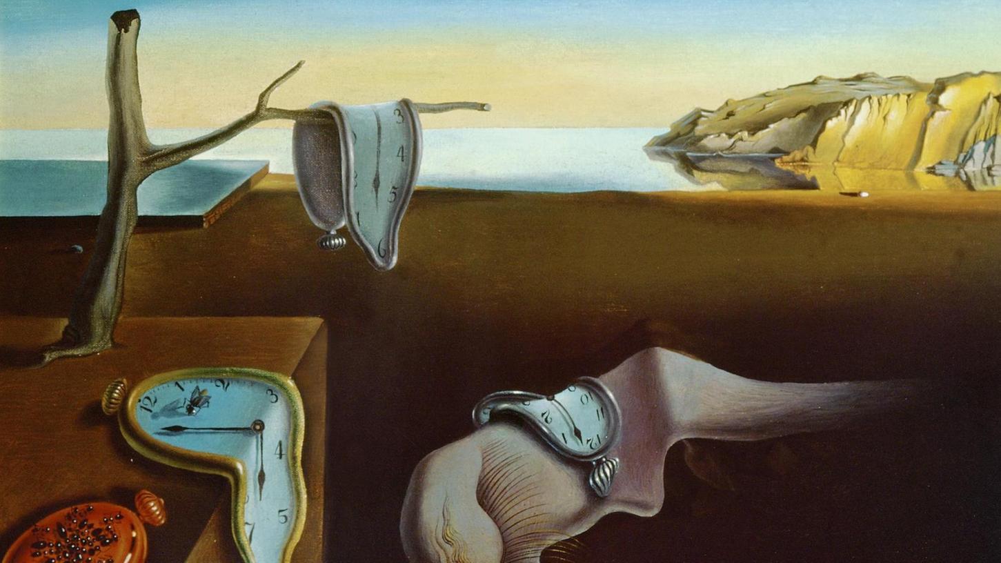 """""""Die Beständigkeit der Erinnerung - Die weichen Uhren - Die zerrinnende Zeit"""" heißt dieses Bild, das Salvador Dali 1931 gemalt hat – alles Begriffe, welche auch die Forschungsthemen von Ferdinand Kosak an der Uni Regensburg kennzeichnen."""