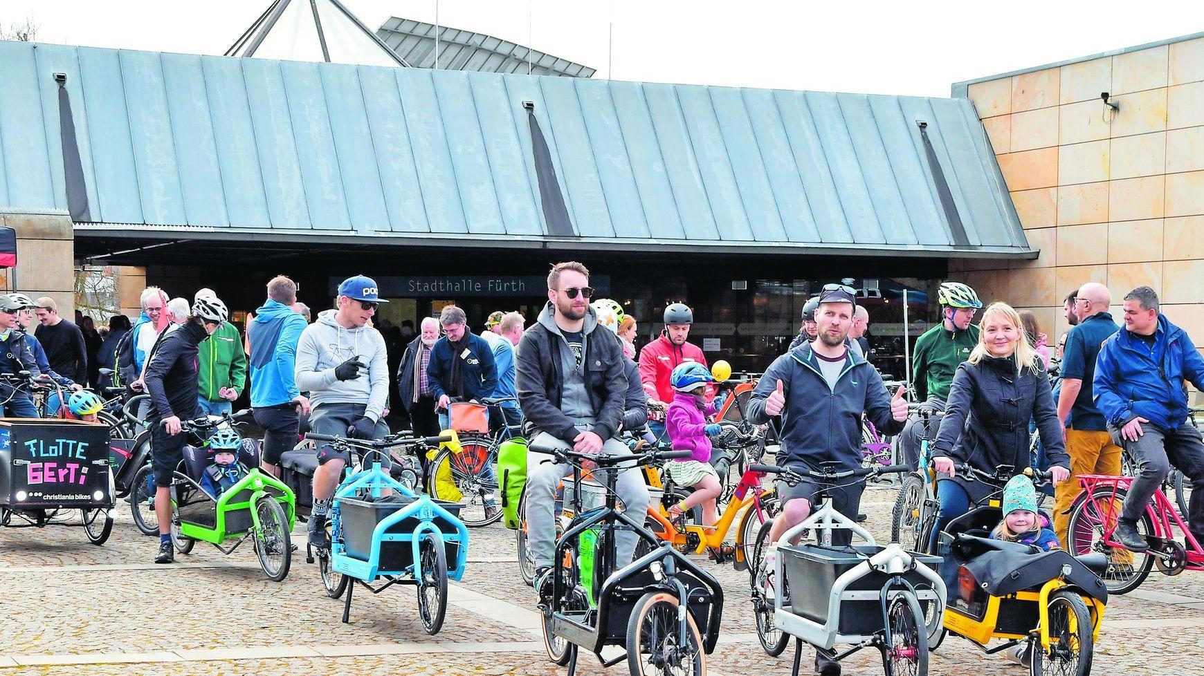 Bei der Radmesse 2017 sorgte ein Lastenradtreffen für Aufsehen – mit dabei war auch das Leihrad, das man bei Velomondial kostenlos ausleihen kann (nicht im Bild).