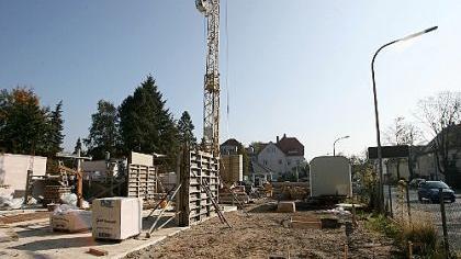 Momentan ist auf der Baustelle in der Bayreuther Straße noch nicht zu erkennen, was hier entstehen wird.