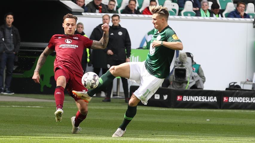 Kerk-Aussetzer und Pereira-Verletzung: FCN verliert in Wolfsburg 0:2