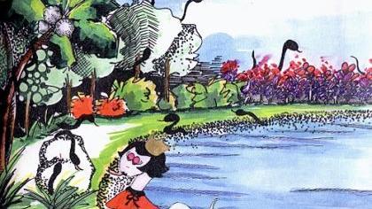 «Die Welt ist ein Meer, und unser Herz ist das Ufer.» Dieses chinesische Sprichwort hat es mit anderen besinnlichen Worten in das Vorwort eines ungewöhnlichen Buchs geschafft: Ab sofort ist in der Erlanger Tourist-Information am Rathausplatz und bei «Thalia» das Märchen «Die Schlangenprinzessin Niesnichtmehr» von Margrit Vollertsen-Diewerge in einer deutsch-chinesisch-englischen Ausgabe mit farbenfrohen Illustrationen von Kindern aus China erhältlich. Beigelegt ist den Abenteuern der klugen Schlange auch eine dreisprachige CD, auf der Klaus Karl-Kraus den deutschen Text spricht. smö/Repro: oh