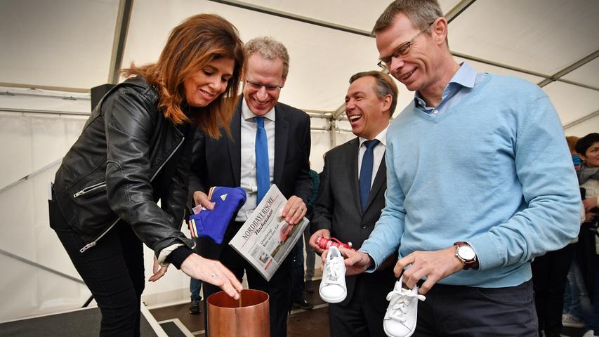 DATUM: 10.11.2017..RESSORT: Lokales ..FOTO: Horst Linke ..MOTIV: adidas - World of Kids..Grundsteinlegung für die neue World of Kids..