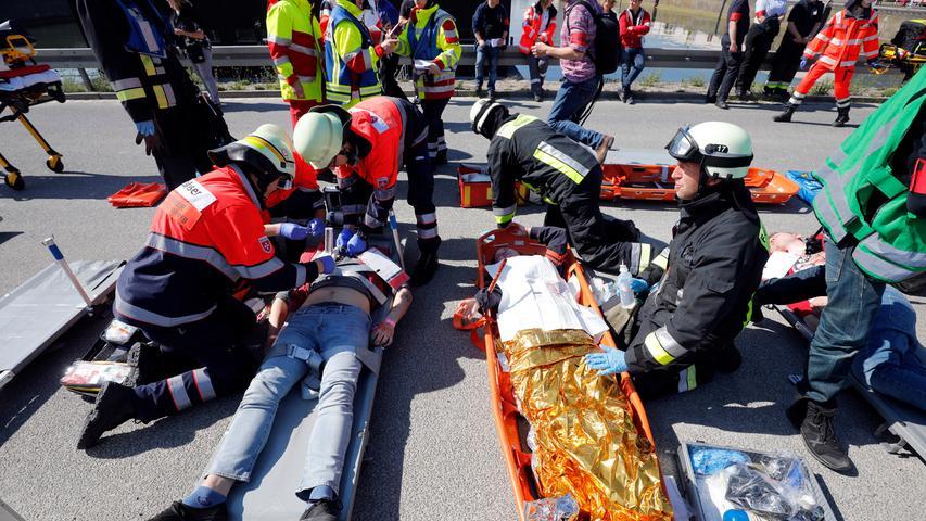 Nürnberg , 18.05.2019..Ressort: Lokales Fotografie: Stefan Hippel..Klinikum Süd , Katastrophenschutz-Vollübung