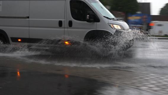 Dauerregen in Franken: Scheinfeld stand komplett unter Wasser