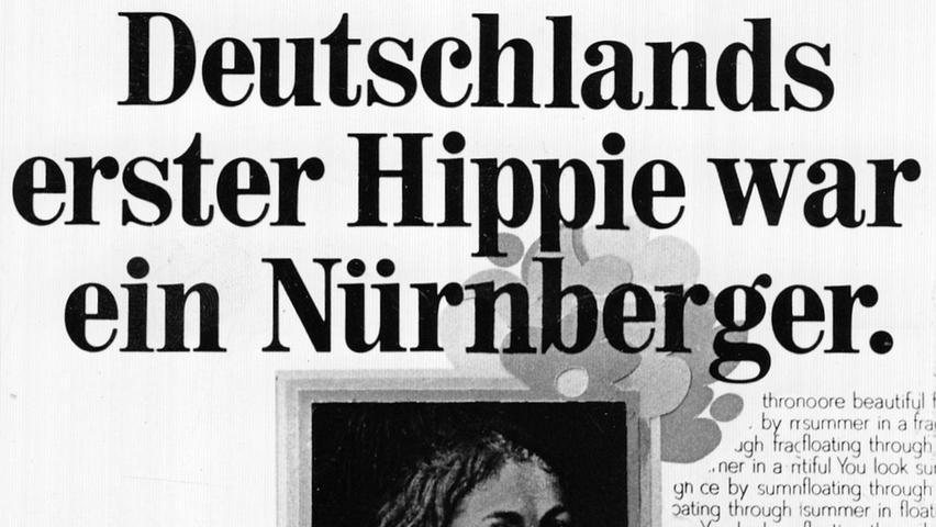 """Dürers Selbstbildnis, das im Louvre hängt, dient als Blickfang für einen """"Steckbrief"""".  Hier geht es zum Artikel vom 26. Mai 1969: Albrecht Dürer muß"""