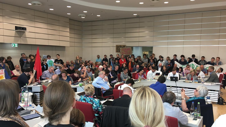 Rund 100 junge Leute von der Friday For Future-Initiative im Ratssaal