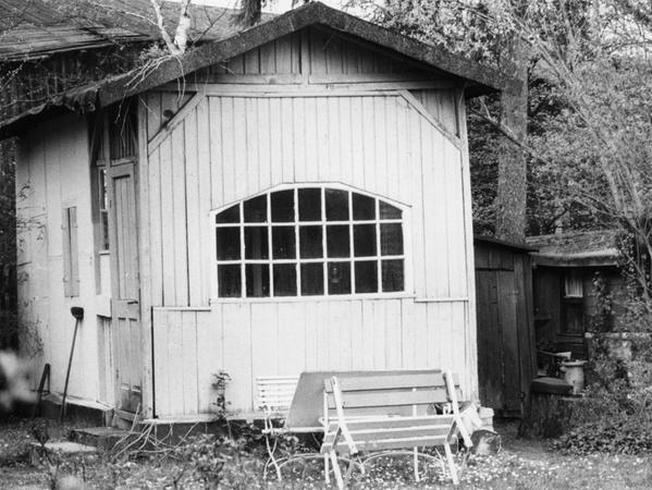 In diesem Gartenhäuschen am Kohlbuck haben sich Einbrecher mehrere Tage häuslich niedergelassen.