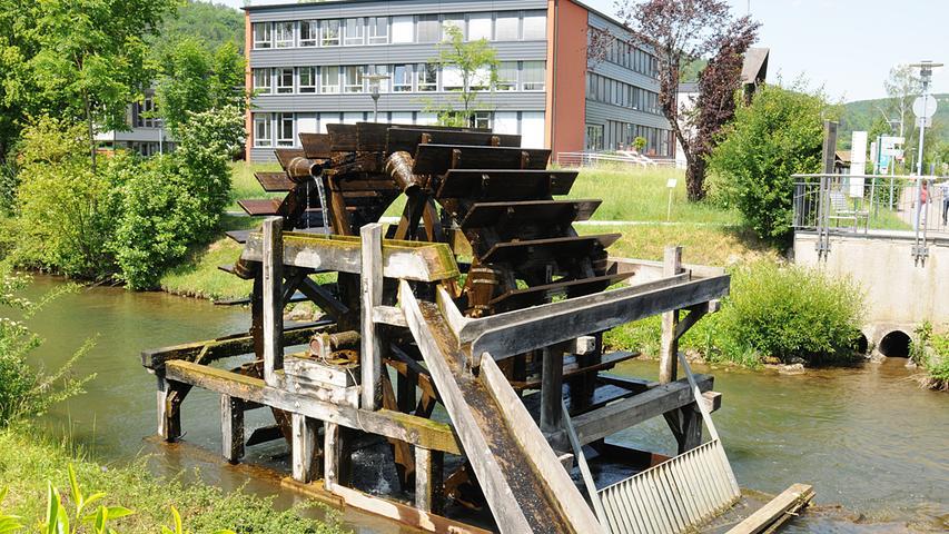 Redaktion:Forchheim..Fotograf:Athina Tsimplostefanaki..Motiv: Wasserrad in Ebermannstadt..Datum:04.06.2019....Abrechnung:Pauschall