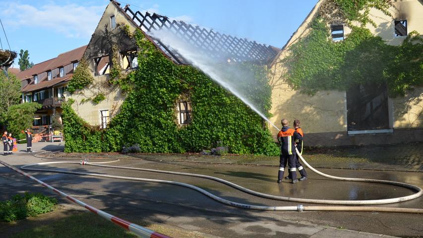 Wachstein Brand bei Familie Oster, Gasthof Zur Sonne, Nacht zum 6. Juni Foto: Jürgen Eisenbrand 6. 6. 2019