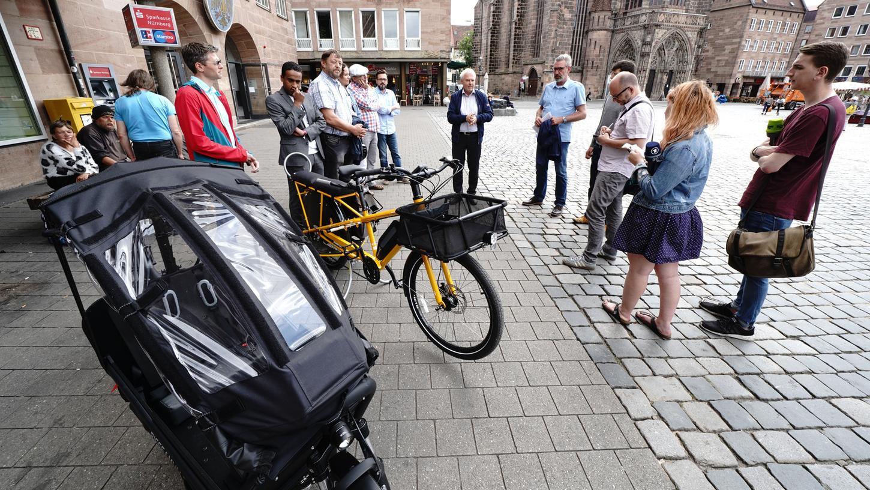 Lastenräder mit Elektroantrieb wurden von der Stadt Nürnberg mit 1000 Euro bezuschusst.