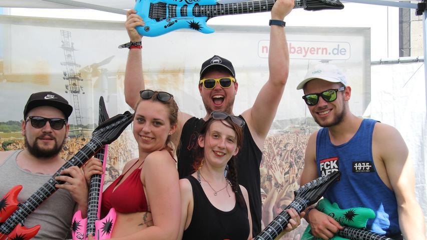 Rock im Park: Luftgitarren-Contest vor der nordbayern.de-Wand