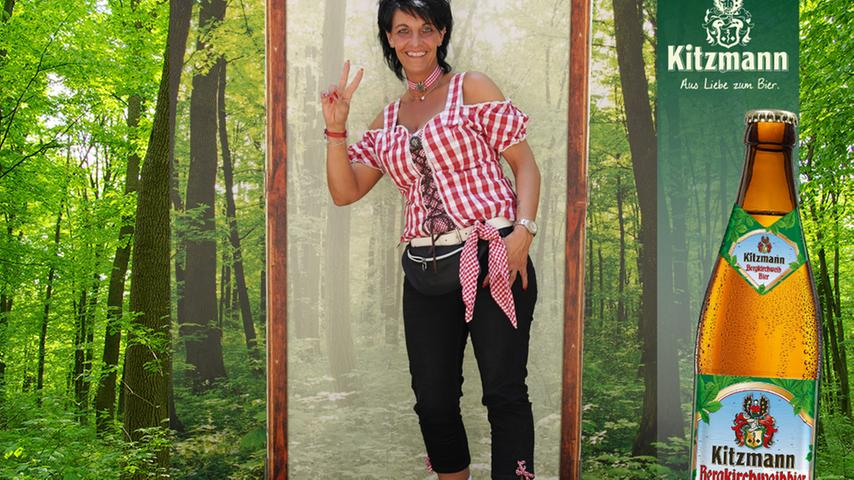 Mit selbstbewusster Pose gewann Silke Jürga ebenfalls 16 Uservotings für sich.