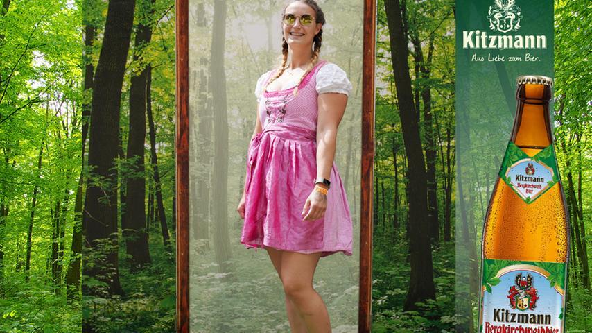 In fröhlichem Pink und mit strahlendem Lächeln erkämpfte sich Frederike Franke 22 Stimmen.