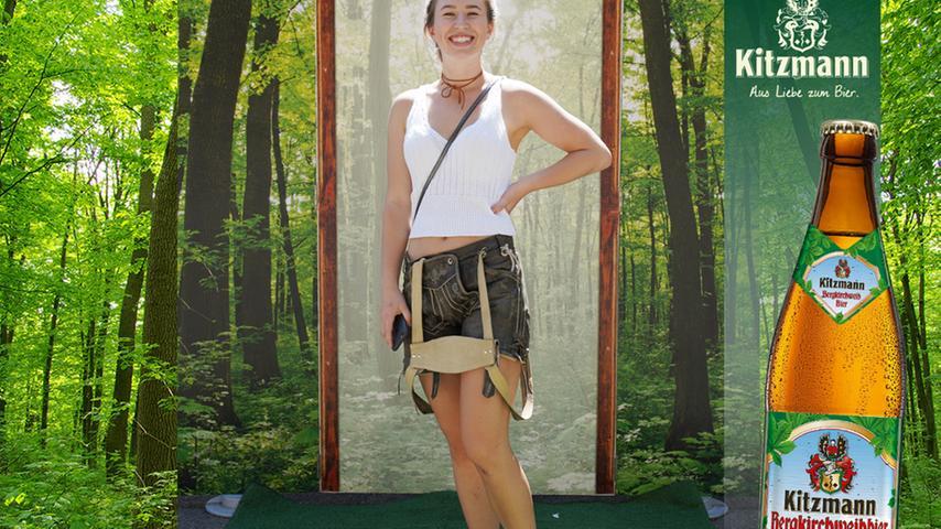 Mit viel guter Laune und sportlicher Lederhose posierte Olivia Richter und erhielt dafür 99 Stimmen.