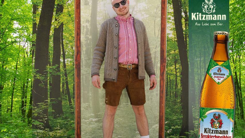 Am Outfit lag's wohl nicht: Jonas Hasenstab bildet mit null Stimmen leider das Schlusslicht.