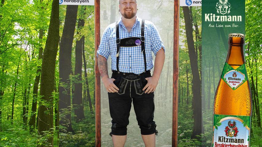Dass Tattoos und Tracht gut zusammenpassen, zeigt Alexander Kulla aus Adelsdorf im Aischgrund. 22 Stimmen gingen an ihn.