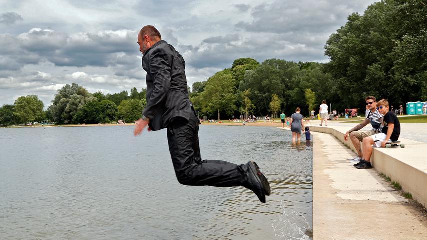 RESSORT: Lokales..DATUM: 15.06.19..FOTO: Michael Matejka ..MOTIV: Badebucht am Wöhrder See ..ANZAHL: 1 von 8..