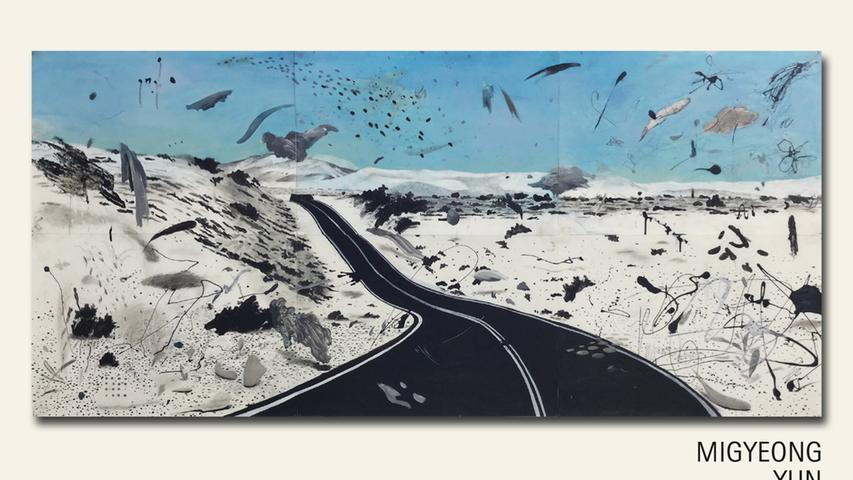 geb. 1991 in Gumi, Südkorea lebt in Nürnberg Auf der Straße (2018) 100 x 220 cm Mischtechnik Acryl erstmals im Wettbewerb vertreten