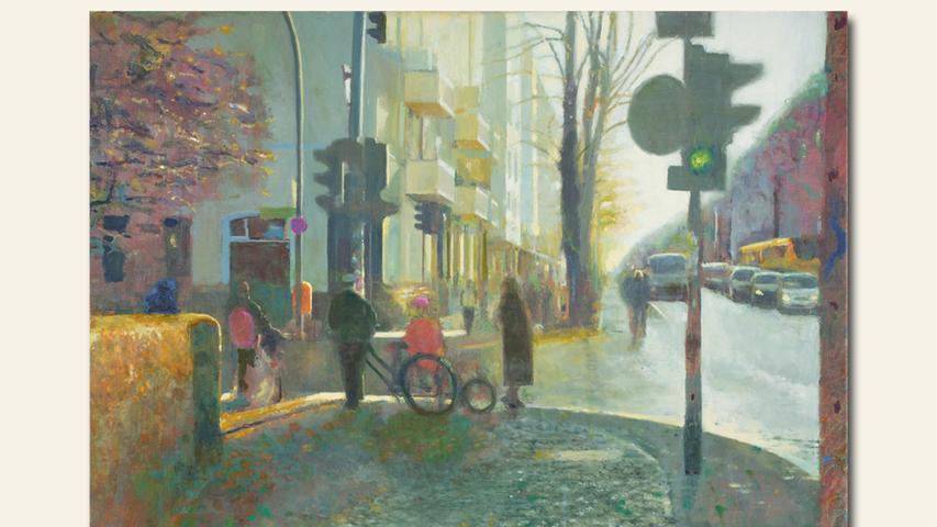 geb. 1965 in Bayreuth lebt in Berlin Grün (2019) 70 x 100 cm Öl auf Leinwand
