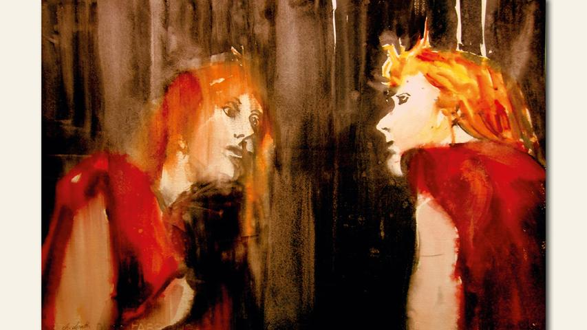 geb. 1947 in Röthenbach/Pegnitz lebt in Oberasbach Mirror Mirror (2018) 50 x 70 cm Aquarell auf Büttenpapier