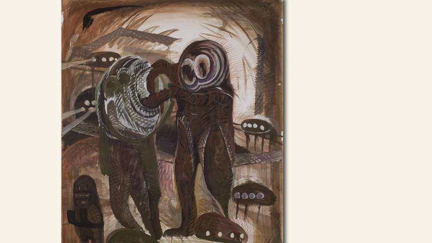 geb. 1971 in der Mongolei lebt in Nürnberg Reisen (2015) 200 x 150 cm Acryl auf Papier erstmals im Wettbewerb vertreten
