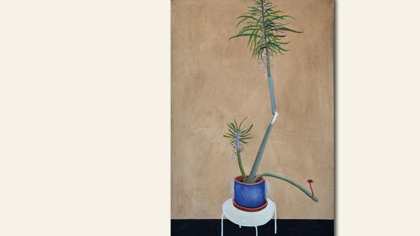 geb. 1984 in Krakau, Polen lebt in Nürnberg Blume mit blauen Topf (2018) 50 x 85 cm Öl auf Leinwand erstmals im Wettbewerb vertreten