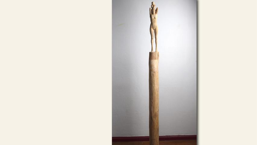 geb. 1976 in Schlema lebt in Schwaig Verbindung (2018) 30 x 30 x 150 cm; 7 kg Erle, Eisen erstmals im Wettbewerb vertreten