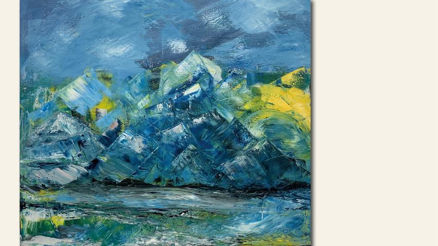 geb. 1947 in Leipzig lebt in Nürnberg Ohne Titel (2019) 100 x 100 cm Acryl und Öl auf Leinwand