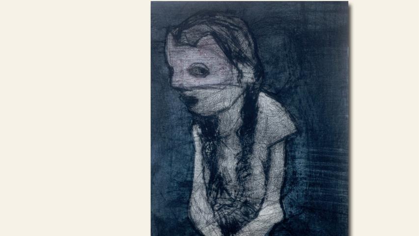 geb. 1963 in Zwickau lebt in Lonnerstadt Mädchen mit Maske (2018) 30 x 40 cm Radierung erstmals im Wettbewerb vertreten