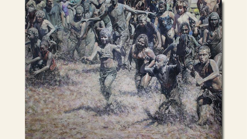 geb. 1972 in Karaganda, Kasachstan lebt in Fürth Zu neuen Horizonten (2018) 180 x 250 cm Öl auf Leinwand