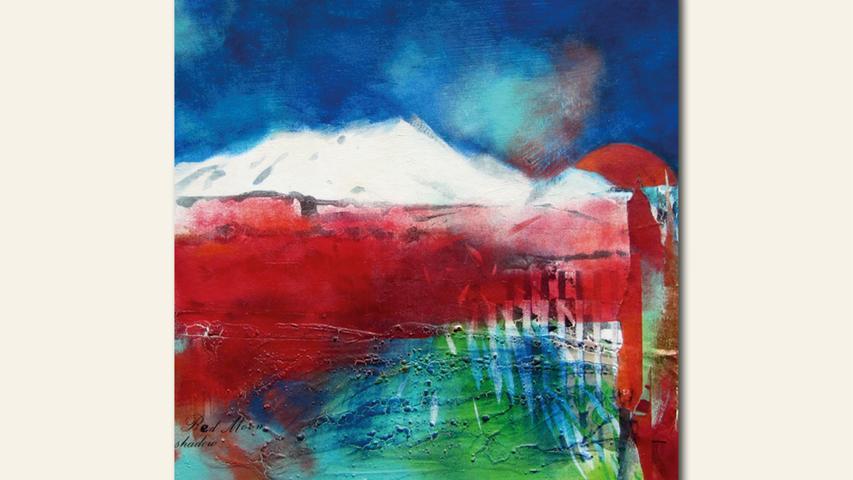 geb. 1945 in Lauf/Pegnitz lebt in Nürnberg Red Moon Shadow (2019) 30 x 30 cm Acryl/Collage auf Karton erstmals im Wettbewerb vertreten