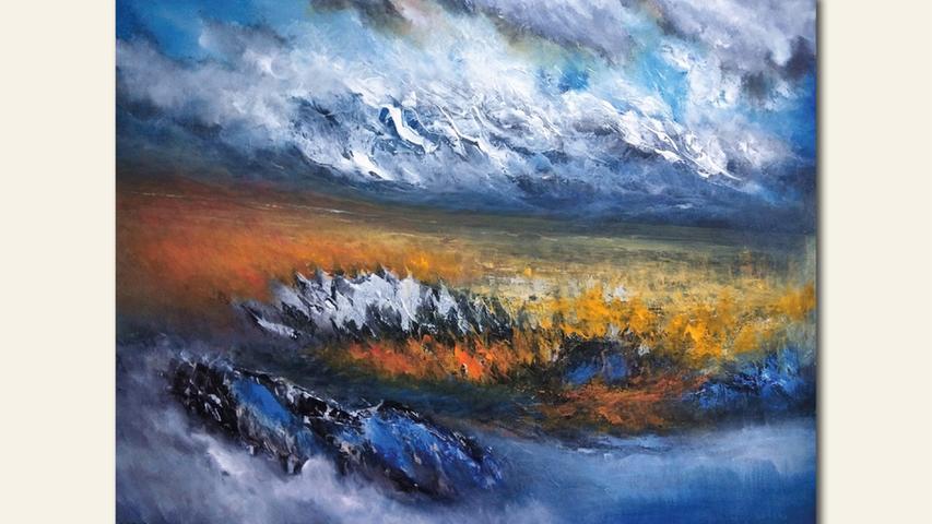 geb. 1964 in Lishui Zhejiang, China lebt in Nürnberg 1. Landschaft (2019) 80 x 100 cm Acryl auf Leinwand erstmals im Wettbewerb vertreten