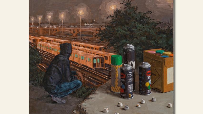 geb. 1979 in Erlangen lebt in Nürnberg Yard (2019) 100 x 120 cm Öl auf Leinwand