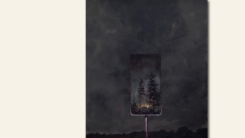 geb. 1988 in Hof lebt in Nürnberg Reklame IV (2019) 40 x 30 cm Acryl und Öl auf Leinwand
