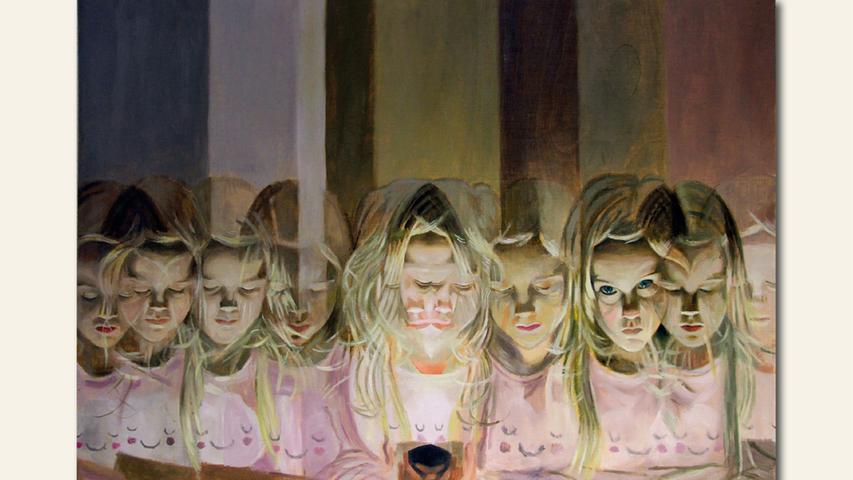 geb. 1986 in Bologna, Italien lebt in Hersbruck Einer, keiner, hunderttausend (2019) 50 x 70 cm Öl auf Holz