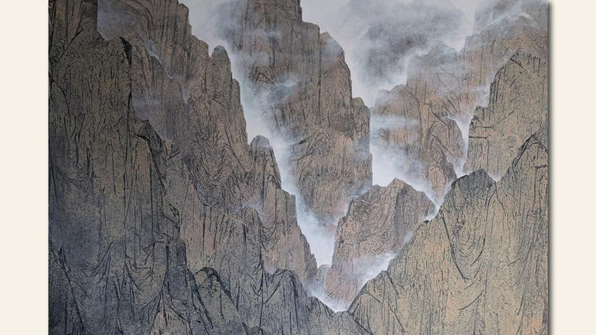 geb. 1957 in Nürnberg lebt in Nürnberg 1. Erdenockersilbergrau (2019) 140 x 200 cm Acryllasuren auf Leinwand