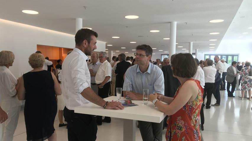 Auch FC-Vorsitzender Thomas Engelhardt weilte unter den Gästen der Stadthalleneröffnung.