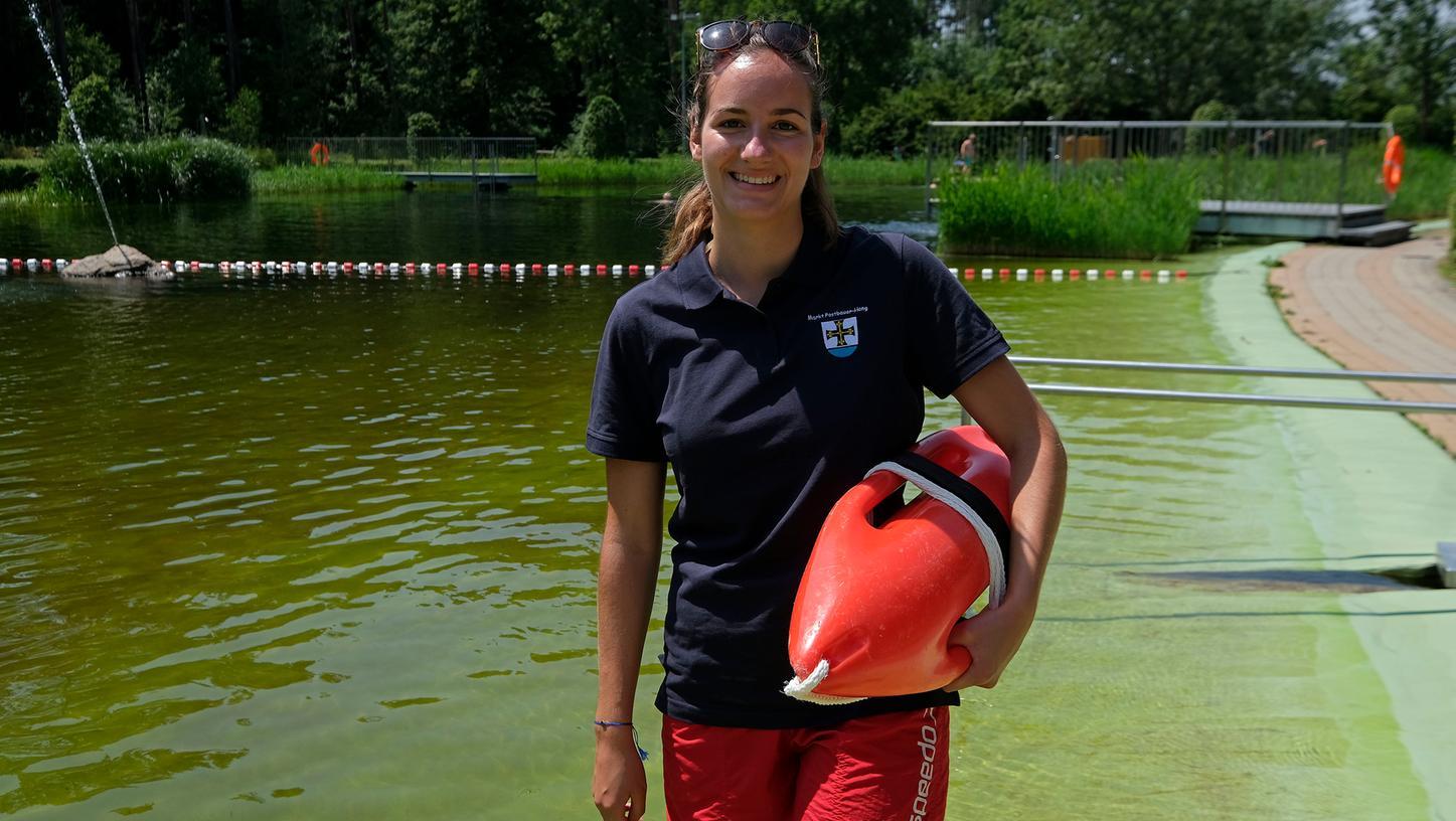 RettungsschwimmerinTina Schmidt passt auch dieses Jahr auf, dass nichts passiert.