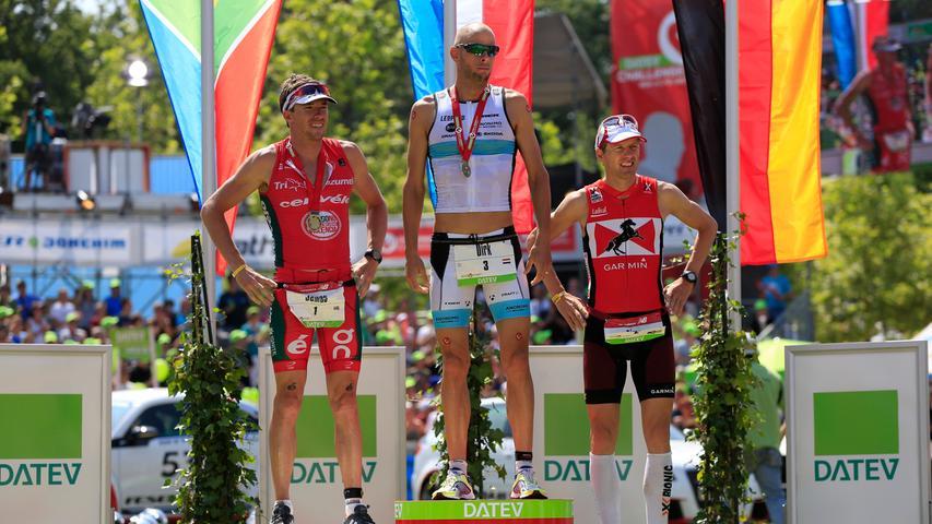 An Dirk Bockel (LUX, in der Bildmitte) führte 2013 kein Weg vorbei. Er holte den Sieg bei den Männern mit 07:52:01.