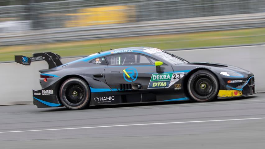 07.07.2019 --- Motorsport --- Rennwochenende Norisring Nürnberg 2019 --- Foto: Sport-/Pressefoto Wolfgang Zink / HMB --- ..Daniel Juncadella (R-Motorsport / Aston Martin Vantage DTM, #23)