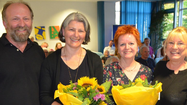 Christine Krieg (2. von links) will Schwabachs erste Oberbürgermeisterin werden.