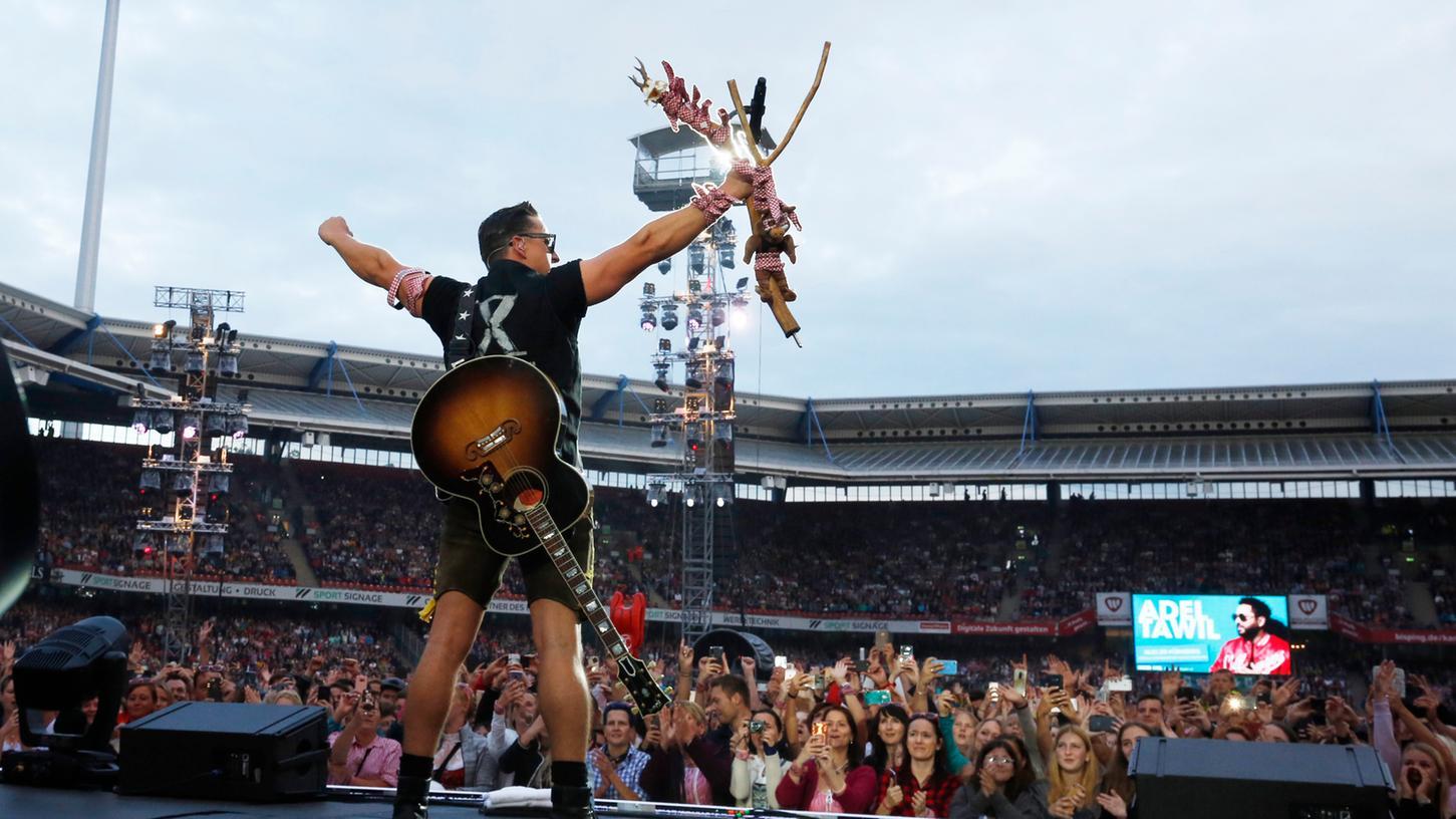 Ein Bergbauernbua aus Graz in Nürnberg: Der selbst ernannte Volks-Rock'n'Roller Andreas Gabalier.